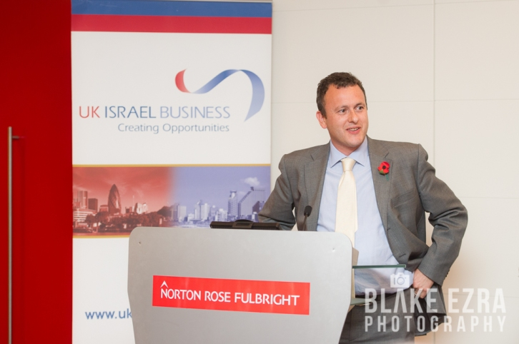 UK Israel Business evening event at Norton Rose Fulbright featuring Israel's Chief Scientist, Avi Hasson.