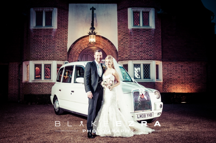 Wedding of Hannah and Elliott at Great Fosters in Surrey.
