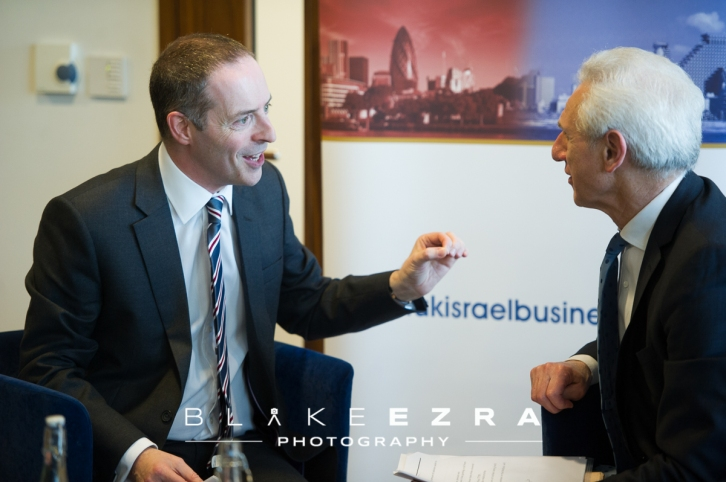 UK Israel Business conversation between Lord Ian Livingston and Alex Brummer, hosted by Mazars.