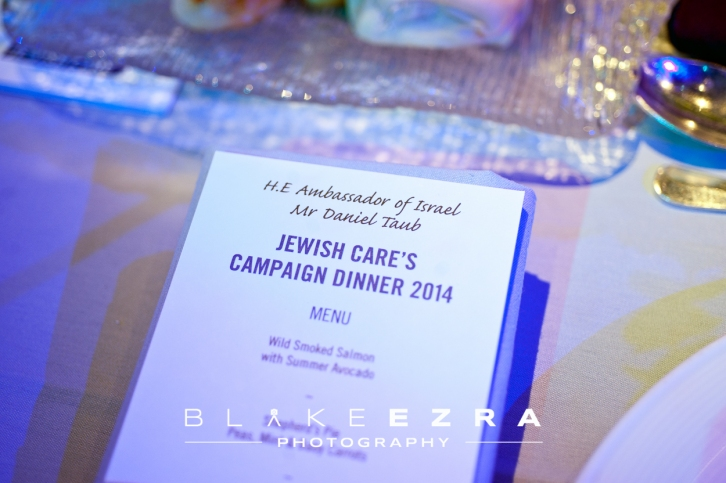 09.06.2014 © Blake Ezra Photography Ltd. Images from the Jewish Care Campaign Dinner 2014 at Grosvenor House Hotel.  No forwarding or third party use.   www.blakeezraphotography.com © Blake Ezra Photography 2014