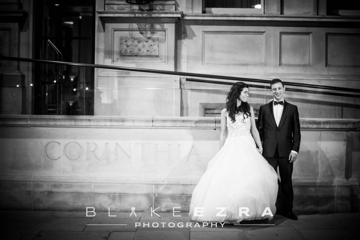 Winter Love: Katie and Joel at Corinthia London