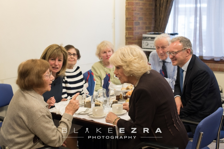 23.02.2016 HRH Duchess of Cornwall visiting the Holocaust Survivors Centre in Hendon, north London. (C) Blake Ezra Photography 2016.