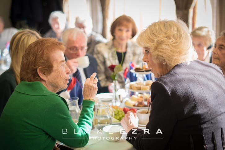 23.02.2016 Images from the visit of HRH Camilla Duchess of Cornwall to the Holocaust Survivors Centre in north London. © Blake Ezra Photography 2016 www.blakeezraphotography.com